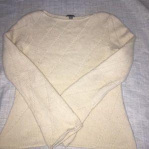 White Ann Taylor sweater